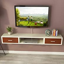 Wall-Mounted Tv Cabinet Floating Shelf with Drawer Wall Shelf Multimedia Storage Shelf Display Shelf Tv Board Tv Stand,E,C...