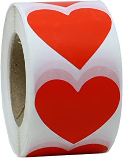 Hybsk Red Love Heart Stickers Color Coding Dot Labels 1.5