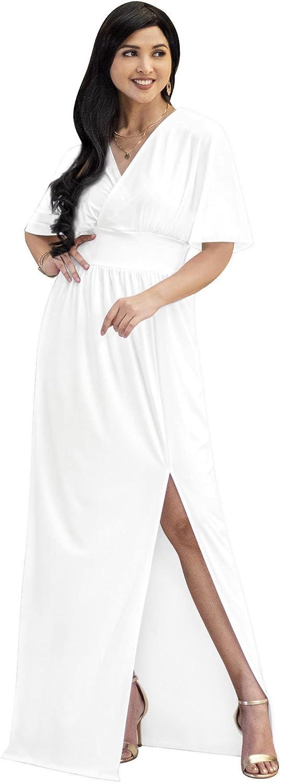 KOH Womens Long Sexy Free Shipping New Kimono Short Slit Ranking TOP14 Go V-Neck Sleeve Wrap