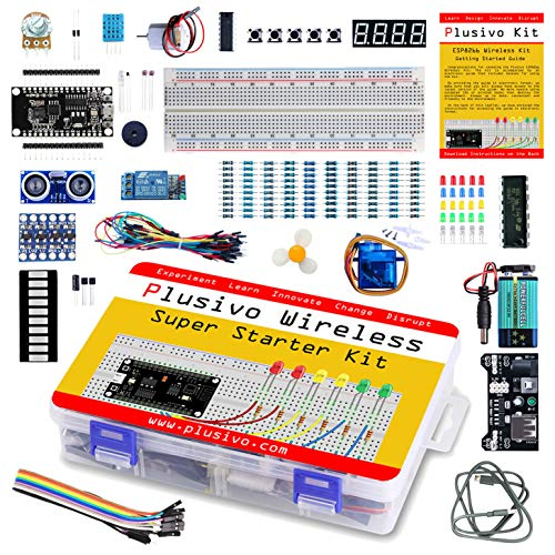 Plusivo Wireless Super Starter Kit - Complete Wireless Starter Kit for Programming and Development - Includes a Development Board (Compatible with Arduino IDE) - A Beginner's Inventor Kit