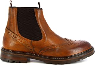 LEONARDO SHOES Luxury Fashion Mens M28701BUFALOBRANDY Brown Ankle Boots | Season Permanent