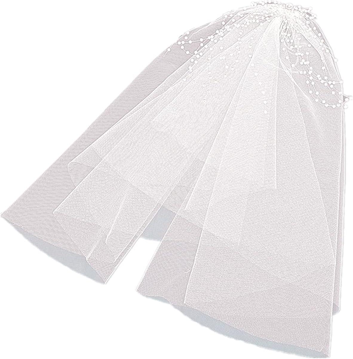 Women's Wedding Veil 1T Bridal Veil Fluffy Veil 35 CM Tulle Veil for Wedding Single Party