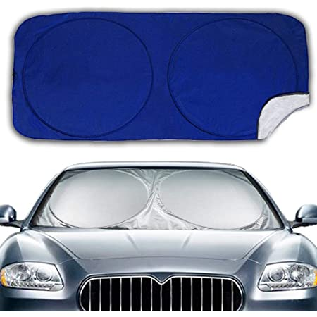 Big Hippo Car Sun Shade For Windscreens Sun Shade Car For Windscreen Sun Visor Car Windscreen For Uv Protection Flexible Size For Car Suv Truck Sliver Auto