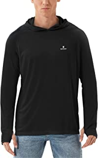 Kepeace Men's UPF 50+ Sun Protection Hoodie Long Sleeve T-Shirt for Fishing, Running, Hiking