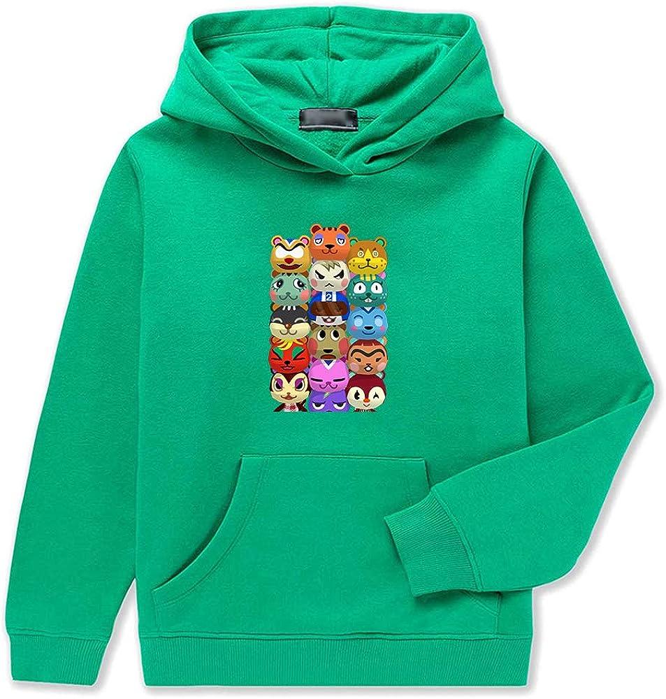 Animal Crossing Pullover Kinder Trendy Sweatshirt M/ädchen Starke warme Sport Hoodies Weiches Licht Wolle Outwear weicher Baumwolle Schaljacke mit Kapuze Pullover Junge und M/ädchen