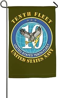 WANGLONG US Navy Tenth Fleet Home Flag Decorative Flags Outdoor Flags Garden Flag