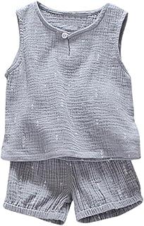 Hirolan Sommerkleidung 2 Stück Bekleidungssets Kleinkind Baby Junge Drucken T-Shirt Oberteile  Shorts Outfits Kleiderset Kinderkleidung Sweatanzug Schlafanzug Strampler