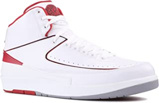 NIKE Mens Air Jordan 2 Retro OG Colorway White/Black-Varsity Red-Cement Grey Leather Basketball Shoes Size 11.5