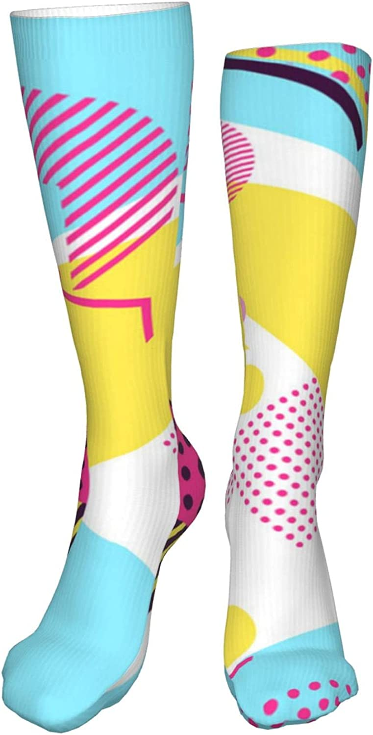 NELife Compression Socks for Men Women - 80s Pattern Graduated S