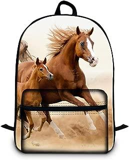 Dispalang 16.5 inch Horse Laptop Backpack Children School Bookbags High Class Back Pack