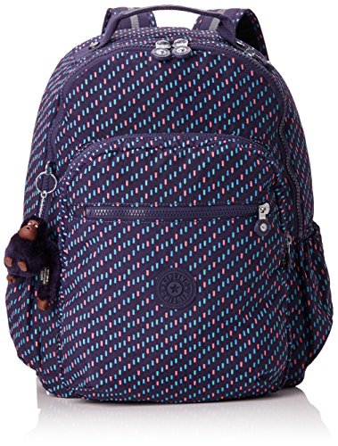 Kipling Seoul Go Children's Backpack, 44 cm, 20 liters, Multicolour (Blue Dash C)