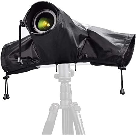 Large Rain Covers for Mirrorless DSLR Camera Protector Cover with Strap