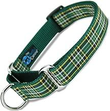 The Artful Canine Martingale Dog Collar, Irish National Plaid, X-large Dogs 50-80 lbs, (Collar: 1