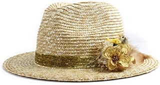 Sun Hat for men and women Panama Hat Sun Hat Straw Hat Panama Chic Summer Flower Straw Hat Visor Lady