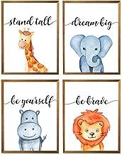 Confetti Baby Animals Print, Safari Nursery Wall Art, Giraffe Lion Rhino Elephants Print, Animal Wall Art, Minimalist Printables, Watercolor Poster, Jungle Animal Art - Set of 4-8x10 - Unframed