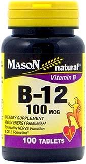 Mason Naturals Vitamin B-12 100 MCG Tablets - 100 Ea (pack of 2)