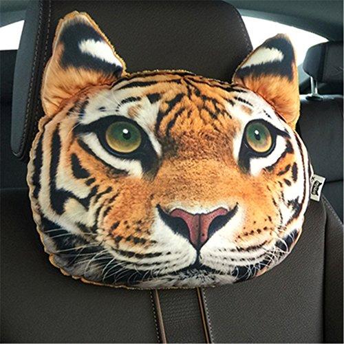 Liaozy888 1pcs/Set 3D Funny Animal car headrest Pillows/car Neck Pillow (J-Typ)