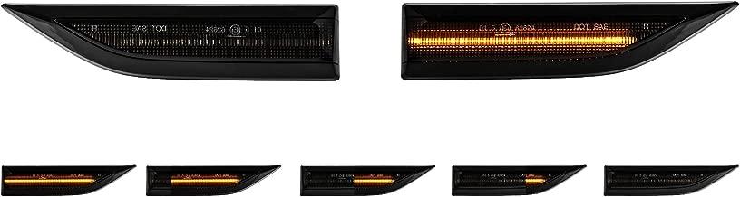 Talento Vivaro Clio Kangoo Rapid Laguna Megane Twingo Primastar Duster Dokker Lodgy 2 x LED Side Blinkers Smoke Black