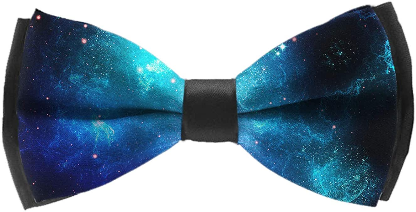 Men's Pre Tied Bow Ties for Wedding Party Adjustable Bowties(Funny Narwhals For Love)