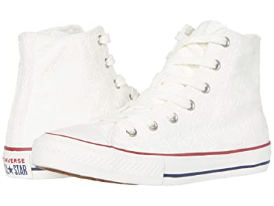 Converse Kids Chuck Taylor All Star (Little Kid/Big Kid) (White/Garnet/Midnight Navy 1) Girl