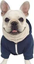 Moolecole Zip-up Pet Hoodie Costume Dog Hooded Clothes Outfit Puppy Pet Hood Coat Apperal for French Bulldog and Pug