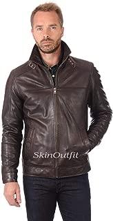 SKINOUTFIT Mens Leather Jackets Motorcycle Bomber Biker Genuine Lambskin 67