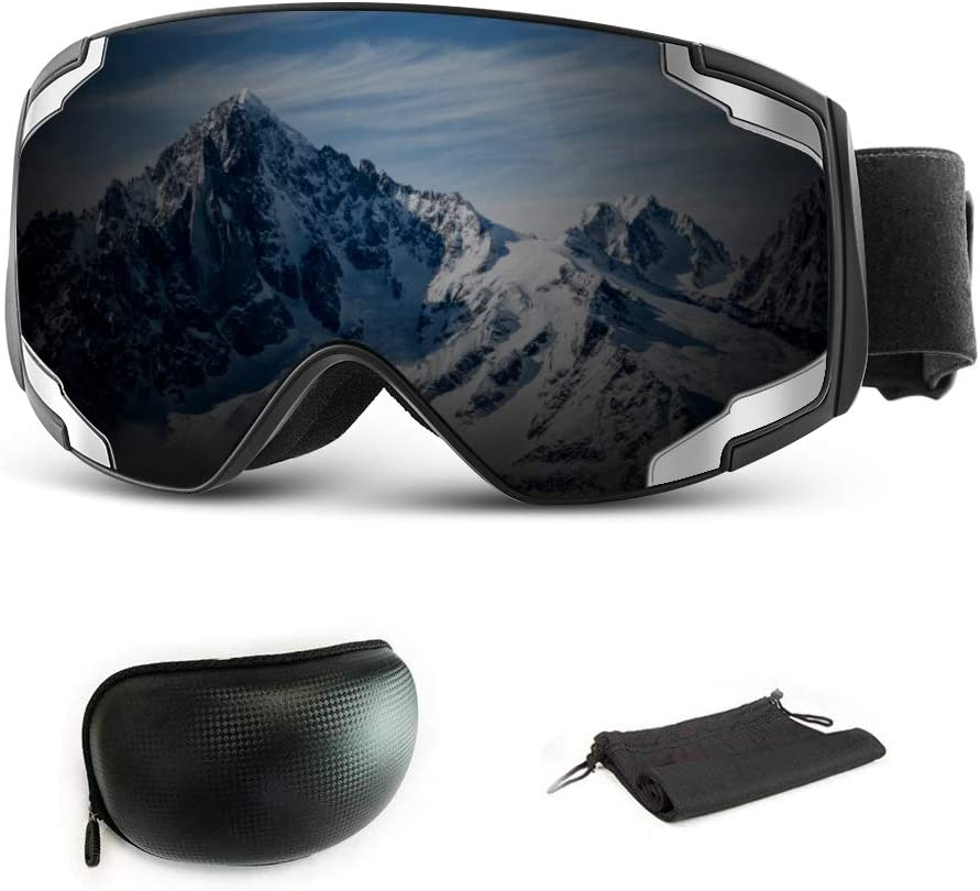 Goggles pour Snowboard Planche Lunette de Ski de Protection avec Double Lentille Sph/érique Masque Ski Homme Femme Anti-bu/ée /& Anti-UV400 Masque Snowboard Coupe-Vent Extra Mile Masque de Ski OTG