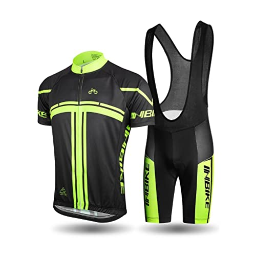 93d67d844 INBIKE Men s Cycling Jersey Set Short Sleeve Full Zip Moisture Wicking  Breathable Quick-Dry