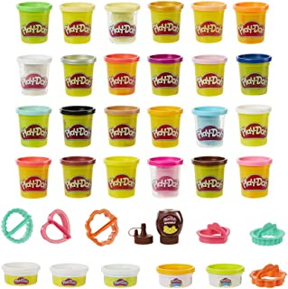 Play-Doh Kitchen Creations Cook 'n Colors Refill Variety Pack Confetti, Elastix, Drizzle, Metallics, and Color Burst, 30 T...