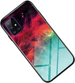 Wuzixi Case for Oppo A53,Marble unique artistic design gradient tempered glass back cover and shockproof silicone TPU, sui...