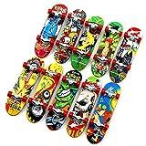Topways® Fingerboard Finger Skateboards 6 Piezas, Mini diapasón, Detalles De Fiesta, Navidad, Cumpleaños, Halloween Regalos Niño Juguetes