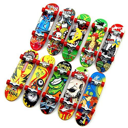 Topways Finger Mini Skateboard 6 Pezzi, Skate per Dita Giocattolo da Deck Truck Finger Board Skate Park Boy Bambini Regalo per Bambini,Bomboniere Giocattoli Festa