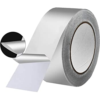 KIWIHUB 4.2 Mil (2 inch-82ft) Aluminum Foil Tape, Silver,Good for HVAC, Sealing & Patching Hot & Cold Air Ducts, Metal Repair