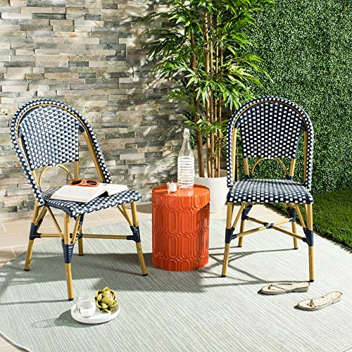 Safavieh Home Collection Hooper Black & White Indoor-Outdoor Stacking Side Chair