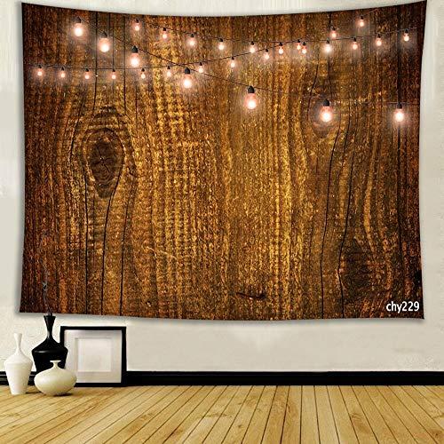 WERT Piso de Grano de Madera decoración de Textura Real Tela Colgante clásica decoración Colgante de Pared Tapiz de Tela de Fondo A5 100x150cm