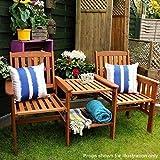 garden mile Akazie harthols Garten Liebe Sitz Zwilling Jack und Jill Sitz mit Quadrat Tisch Hölzernes Garten Bank Companion Sitz Set Außen...