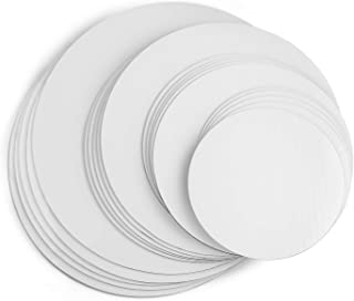 Cake Boards, White Round Cake Circle base - 6,8, 10 and 12 inch, 5 of each Size