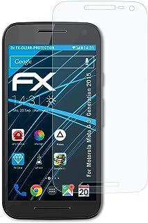 atFoliX Skärmskyddsfilm är kompatibel med Motorola Moto G 3. Generation 2015 Film, ultra-klar FX Skyddsfilm (3X)