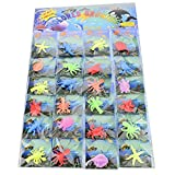 Funlop 24 Pack Sensory Jelly Water Growing Sea Life Creatures Animals, Amazing, Fun, Educational, Learning Toy for Children Boys and Girls (24 Assorted Sea Creatures and Colors)