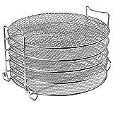 Macabolo 5 capas de rejilla de aire para barbacoa, apilables, de acero inoxidable, deshidratador
