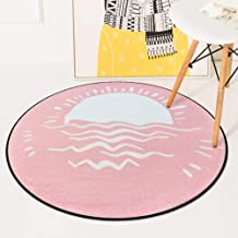 Round Warm Rugs Bedroom Living Room Sofa Carpet Coral Fleece Children Crawling Game Pad 60-180Cm,3,60 * 60cm