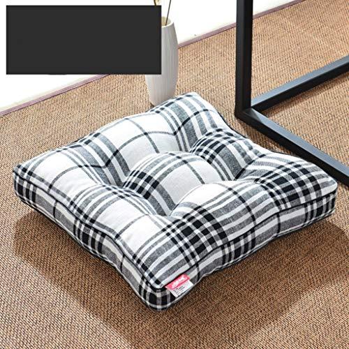 Futon Baia, zitkussen voor ramen, van katoen en linnen voor op kantoor, tatami, kussen voor yoga, floormat, afmetingen 40 x 40 cm