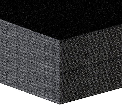 20 Stück Leichtschaumplatten, Leichtstoffplatten 5mm SCHWARZ Format: A2 (42x59,4cm)
