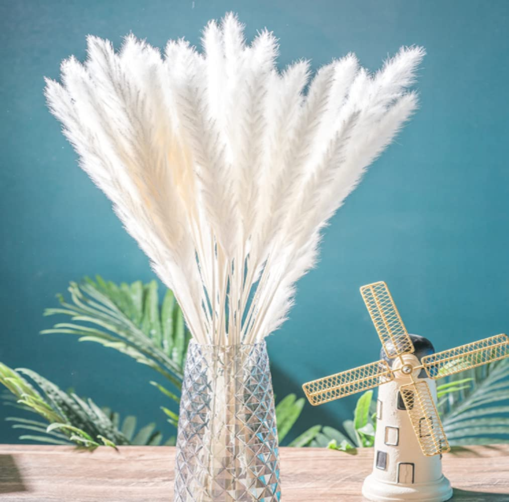 Jofeel White Large discharge sale Pampas Grass Decor for Fake Super beauty product restock quality top Pompous Home Gra Small