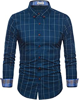 mens long sleeve shirt with contrasting cuffs