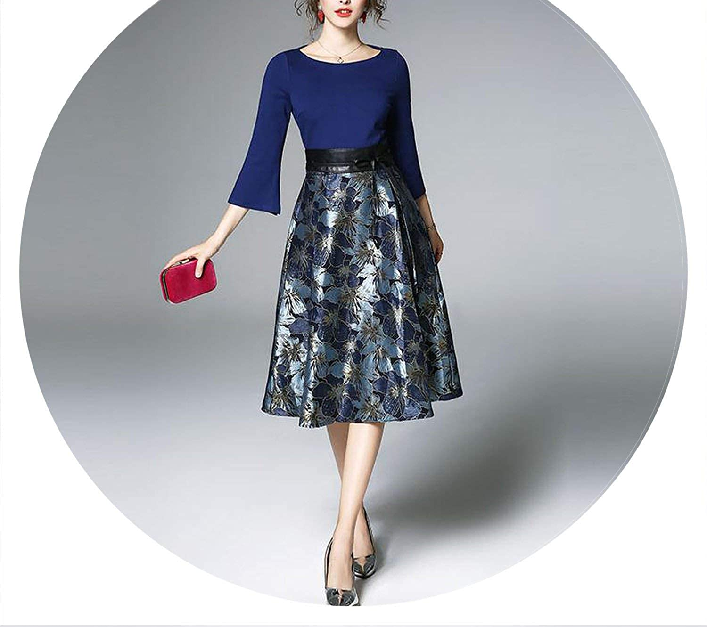 AllAboutUs EuropeStyle Flare Sleeve Elegant Slim Ladies Party Dress Women Casual Dresses M007