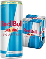 Red Bull Enerji İçeceği, Şekersiz, 250 ml (4'lü Paket, 4x250 ml)