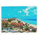 México Cancun Beach Jigsaw Puzzle de 500 piezas para adultos niño de madera regalo recuerdo 20.5 x 15 pulgadas (FX03906)