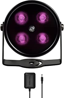 Tendelux 80ft IR Illuminator | AI4 No Hot Spot Wide Angle Infrared Light for Security Camera (w/Power Adapter)