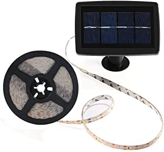 Solar Strip Lights, BESWILL 16.4 feet LED Flexible and Cuttable Solar String Lights, Waterproof IP 65, 2 Modes, Auto ON/Of...